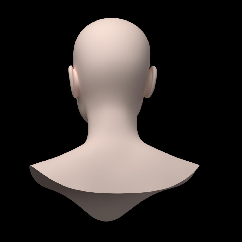 female ideal head base mesh 3d model 3ds max fbx c4d dae ma mb obj 321760