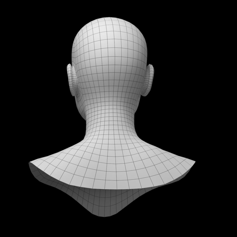 female ideal head base mesh 3d model 3ds max fbx c4d dae ma mb obj 321761