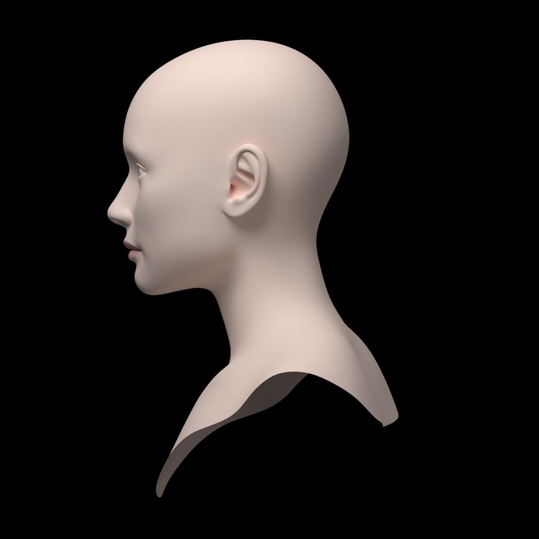 female ideal head base mesh 3d model 3ds max fbx c4d dae ma mb obj 321762