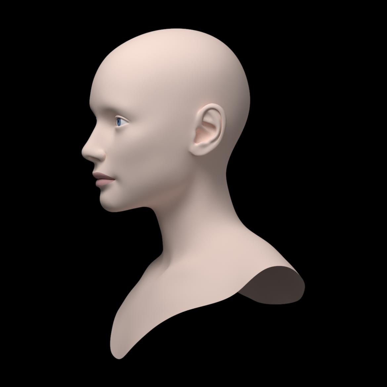 female ideal head base mesh 3d model 3ds max fbx c4d dae ma mb obj 321764