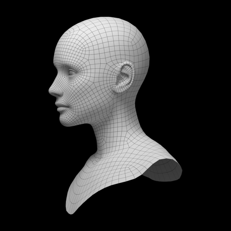 female ideal head base mesh 3d model 3ds max fbx c4d dae ma mb obj 321765