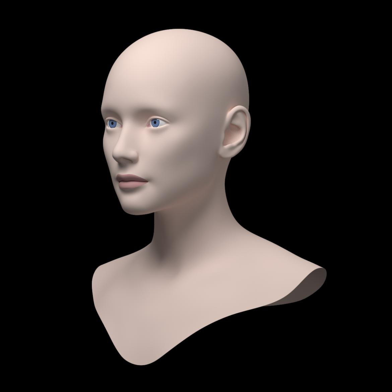 female ideal head base mesh 3d model 3ds max fbx c4d dae ma mb obj 321766