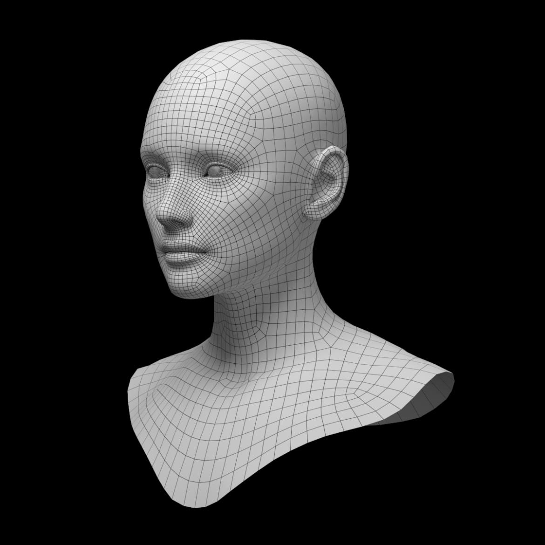 female ideal head base mesh 3d model 3ds max fbx c4d dae ma mb obj 321767