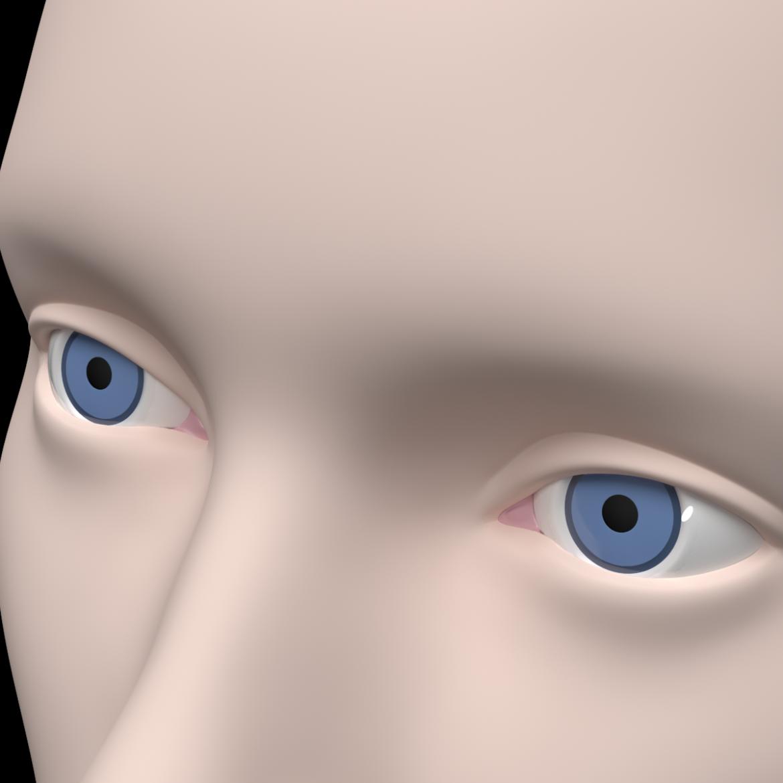 female ideal head base mesh 3d model 3ds max fbx c4d dae ma mb obj 321768