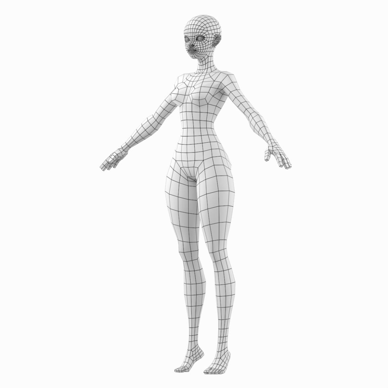 стилизирано момиче abby fine shape mesh 3d модел 3ds max fbx c4d dae ma mb obj 321798
