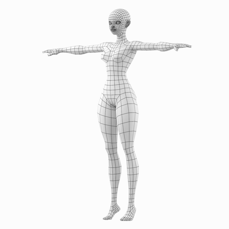 stilizuota mergina abby dailios formos tinklelis 3D modelis 3ds max fbx c4d dae ma mb obj 321799