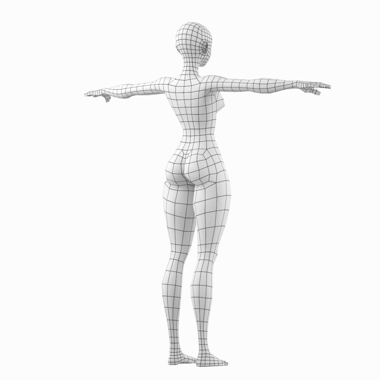 stilizuota mergina abby dailios formos tinklelis 3D modelis 3ds max fbx c4d dae ma mb obj 321801