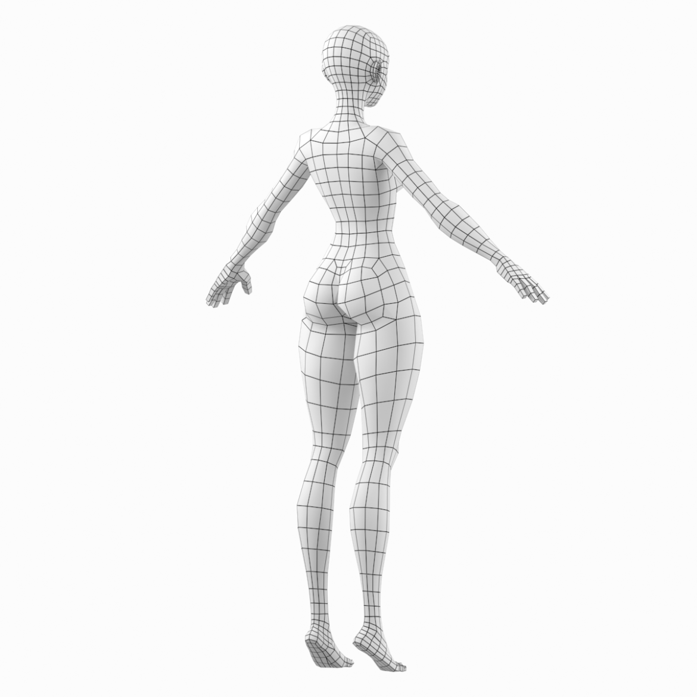 стилизирано момиче abby fine shape mesh 3d модел 3ds max fbx c4d dae ma mb obj 321802