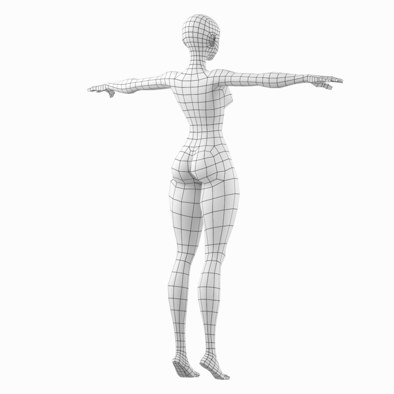 stilizuota mergina abby dailios formos tinklelis 3D modelis 3ds max fbx c4d dae ma mb obj 321803