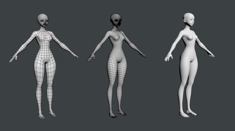 стилизирано момиче abby fine shape mesh 3d модел 3ds max fbx c4d dae ma mb obj 321811