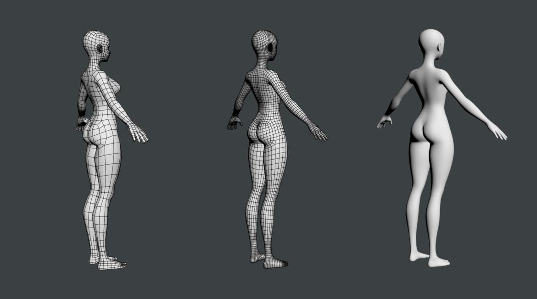 стилизирано момиче abby fine shape mesh 3d модел 3ds max fbx c4d dae ma mb obj 321813
