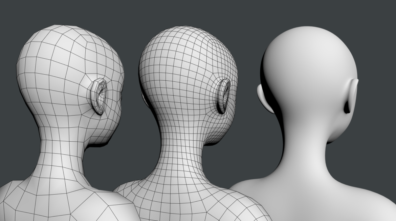 стилизирано момиче abby fine shape mesh 3d модел 3ds max fbx c4d dae ma mb obj 321820