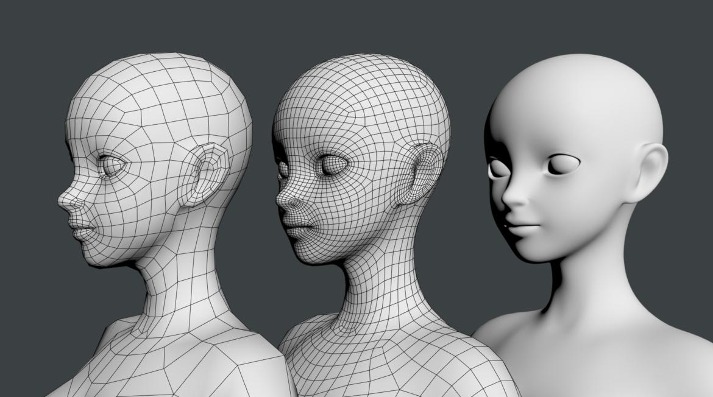 стилизирано момиче abby fine shape mesh 3d модел 3ds max fbx c4d dae ma mb obj 321822