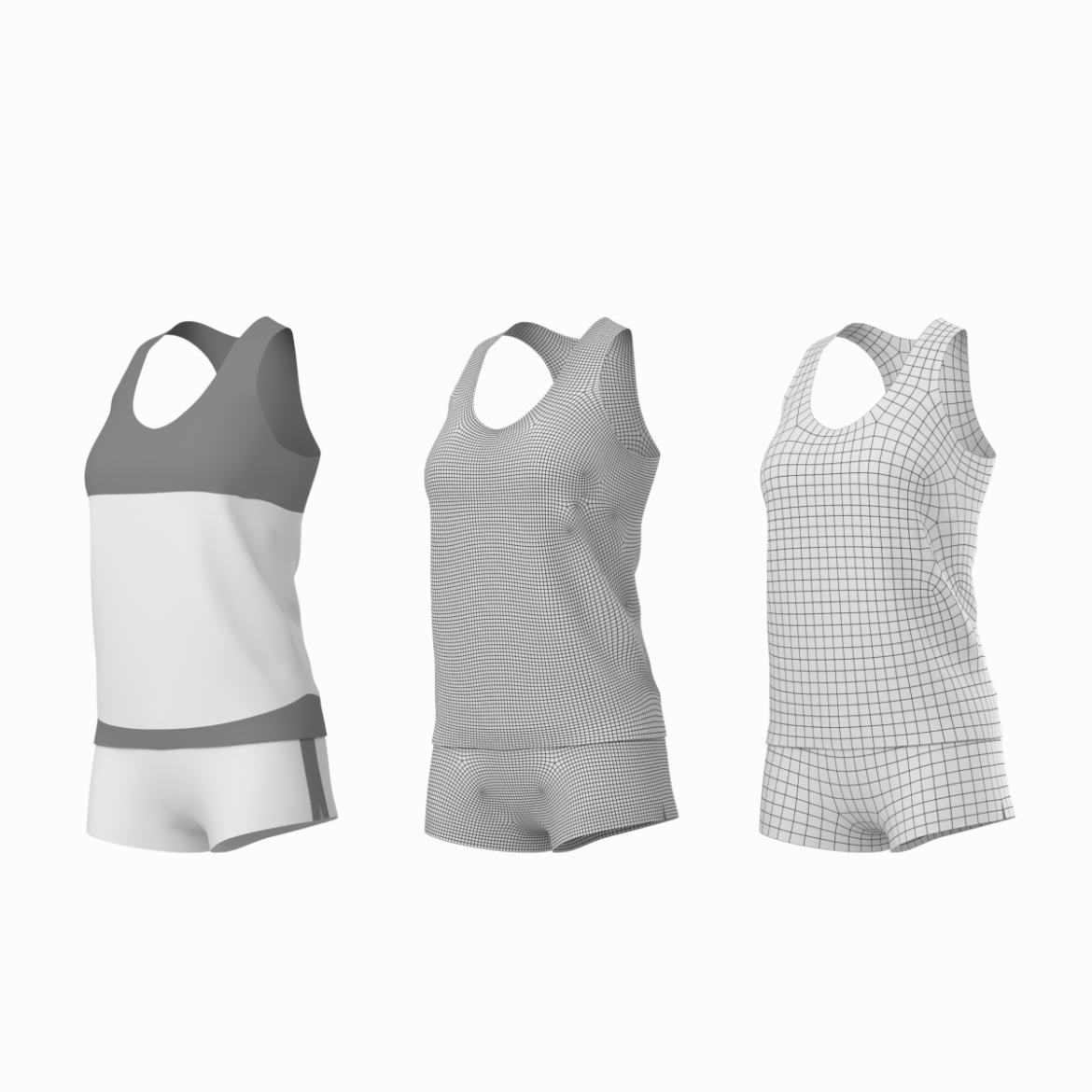 woman sportswear 03 base mesh design kit 3d model 3ds max fbx blend c4d dae ma mb  obj ztl 321865