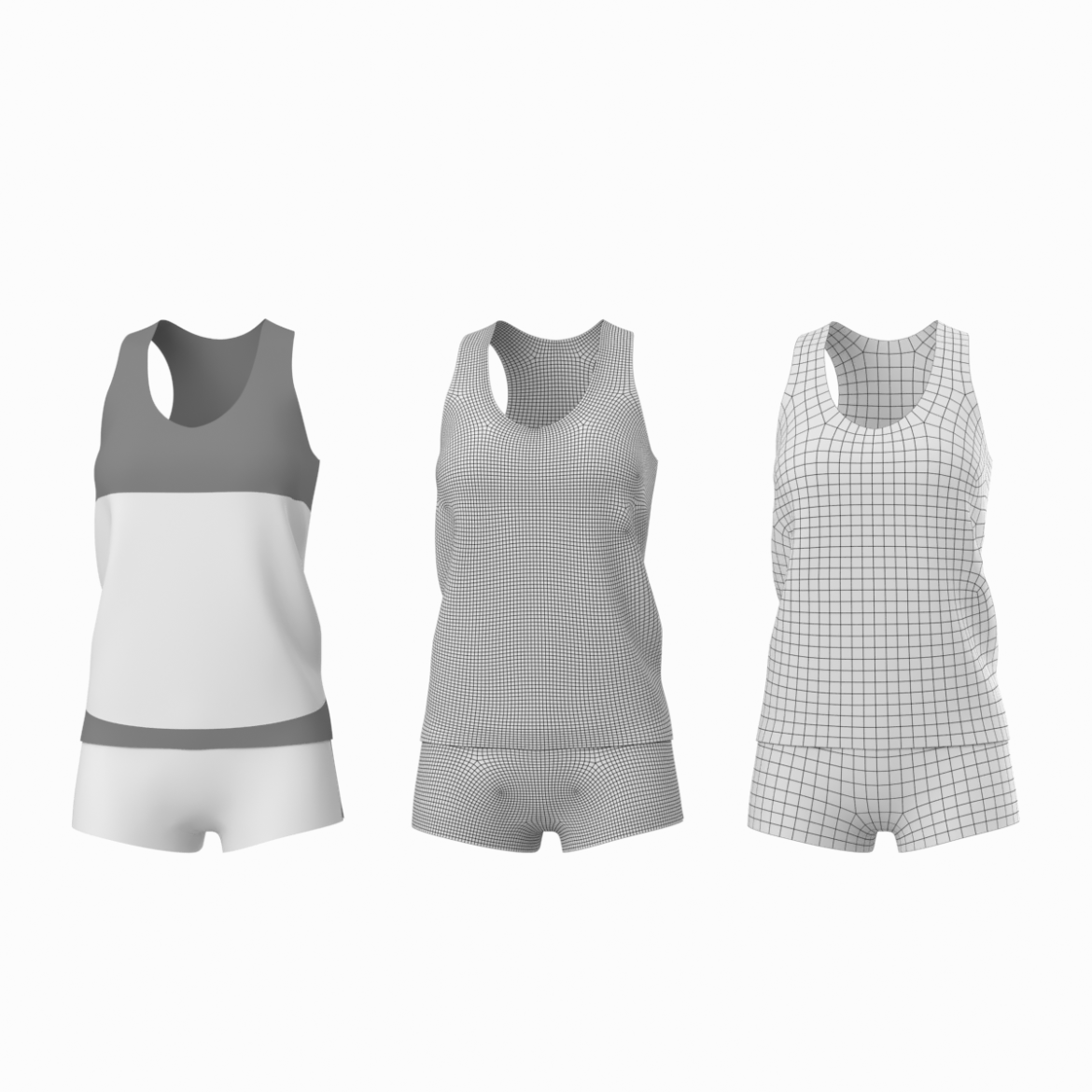 woman sportswear 03 base mesh design kit 3d model 3ds max fbx blend c4d dae ma mb  obj ztl 321867