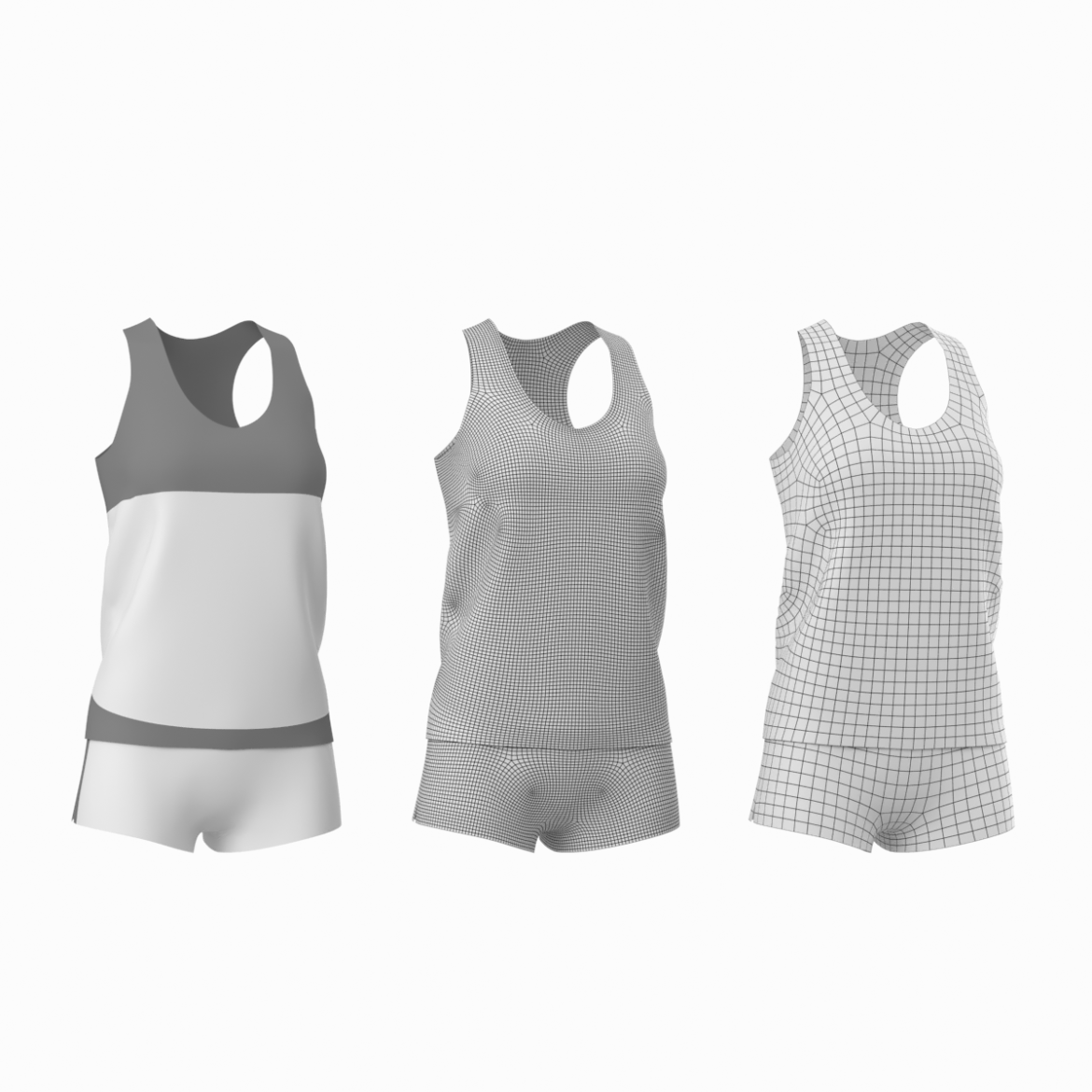 woman sportswear 03 base mesh design kit 3d model 3ds max fbx blend c4d dae ma mb  obj ztl 321868