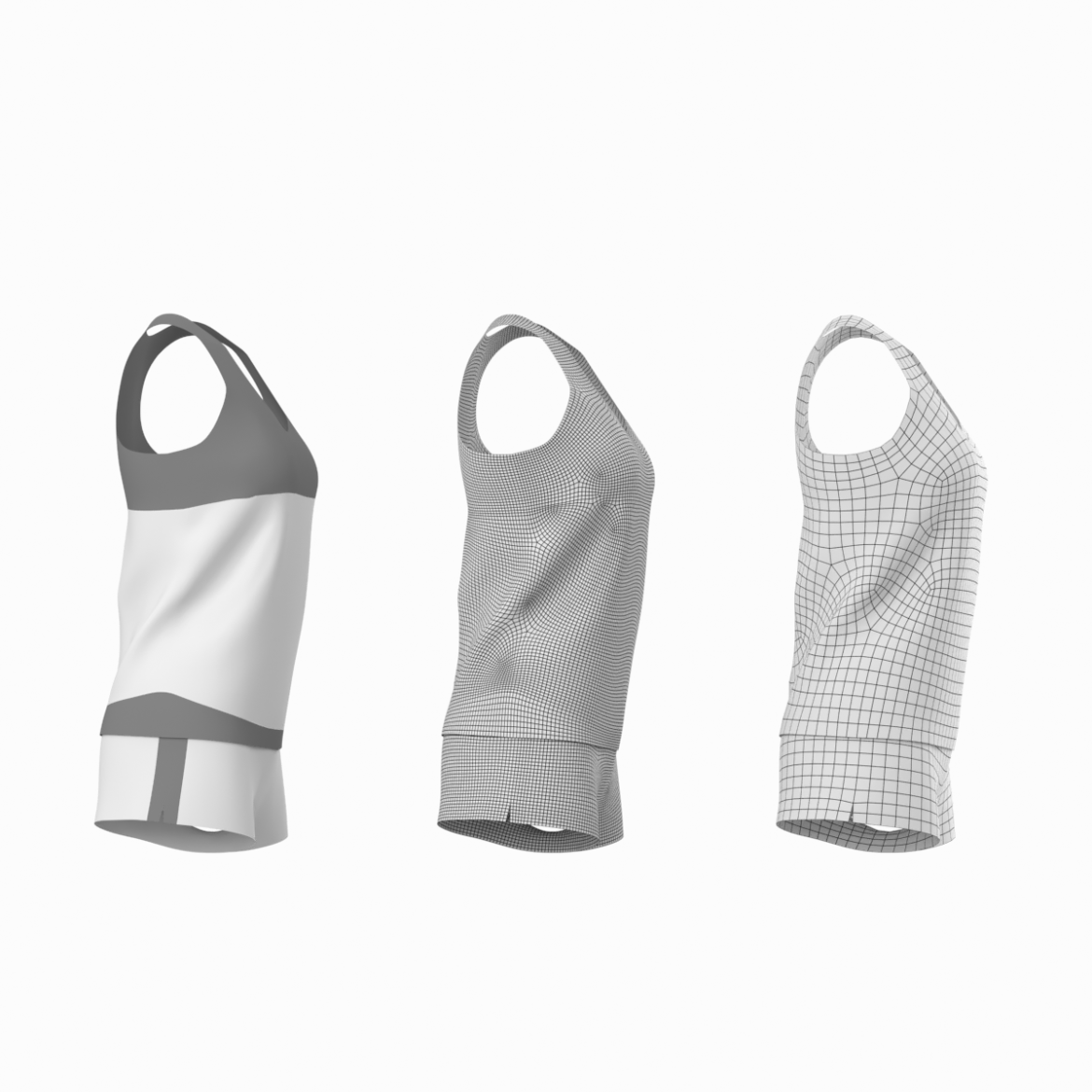 woman sportswear 03 base mesh design kit 3d model 3ds max fbx blend c4d dae ma mb  obj ztl 321870