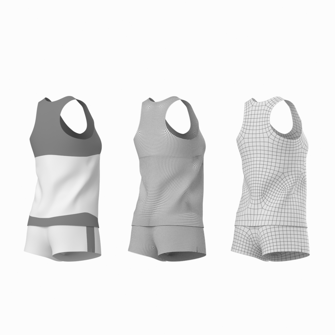 woman sportswear 03 base mesh design kit 3d model 3ds max fbx blend c4d dae ma mb  obj ztl 321872