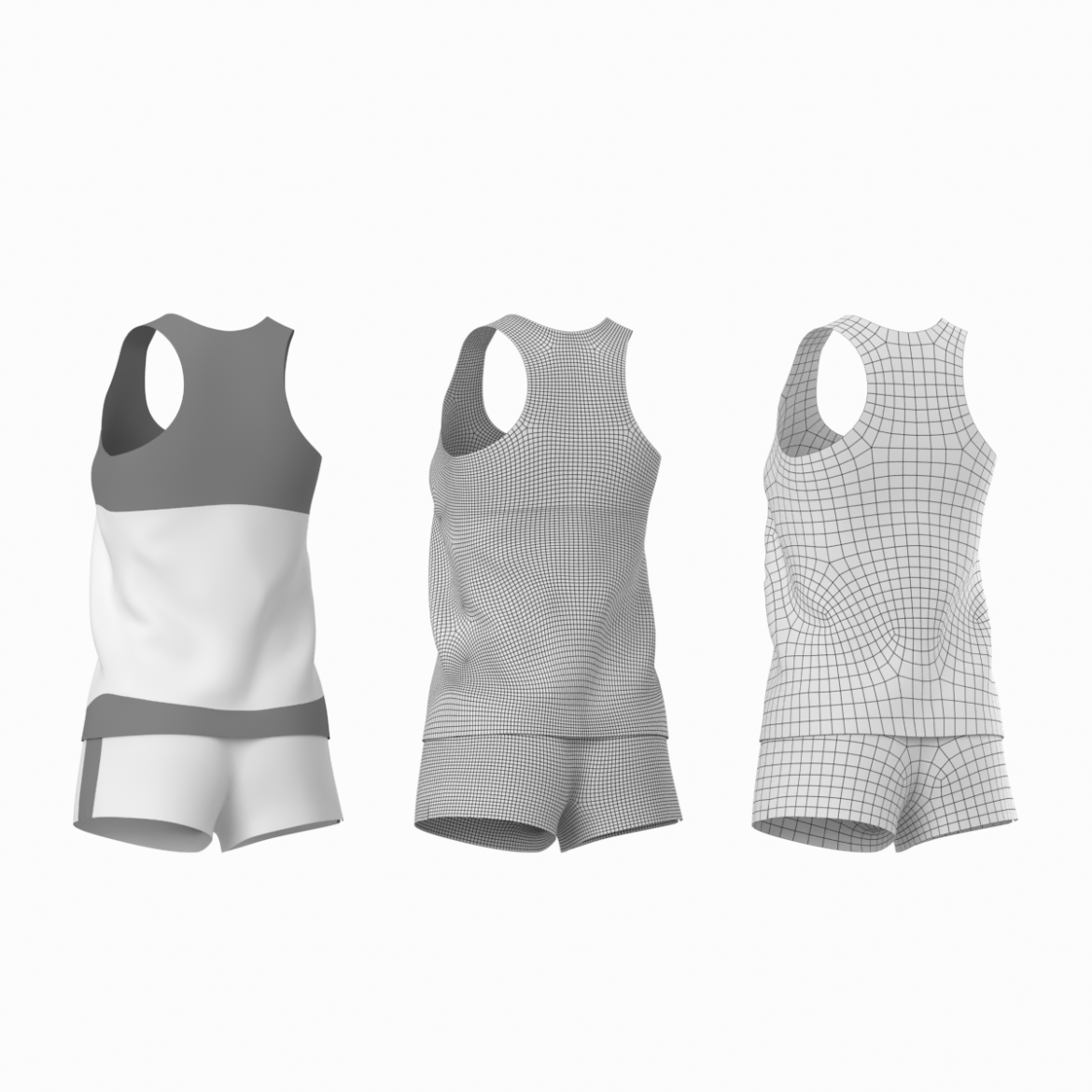 woman sportswear 03 base mesh design kit 3d model 3ds max fbx blend c4d dae ma mb  obj ztl 321874