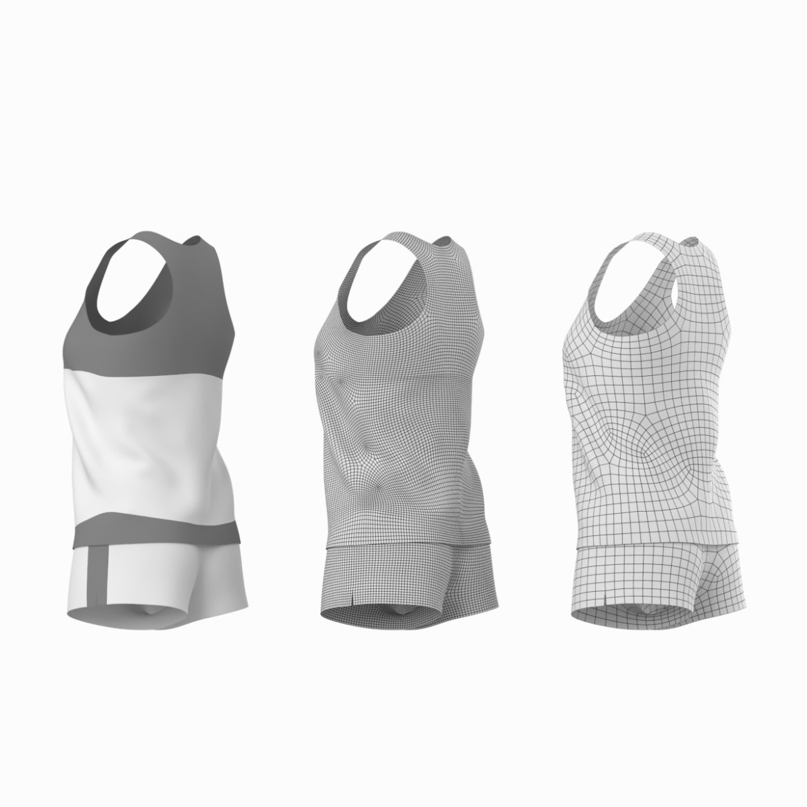 woman sportswear 03 base mesh design kit 3d model 3ds max fbx blend c4d dae ma mb  obj ztl 321875