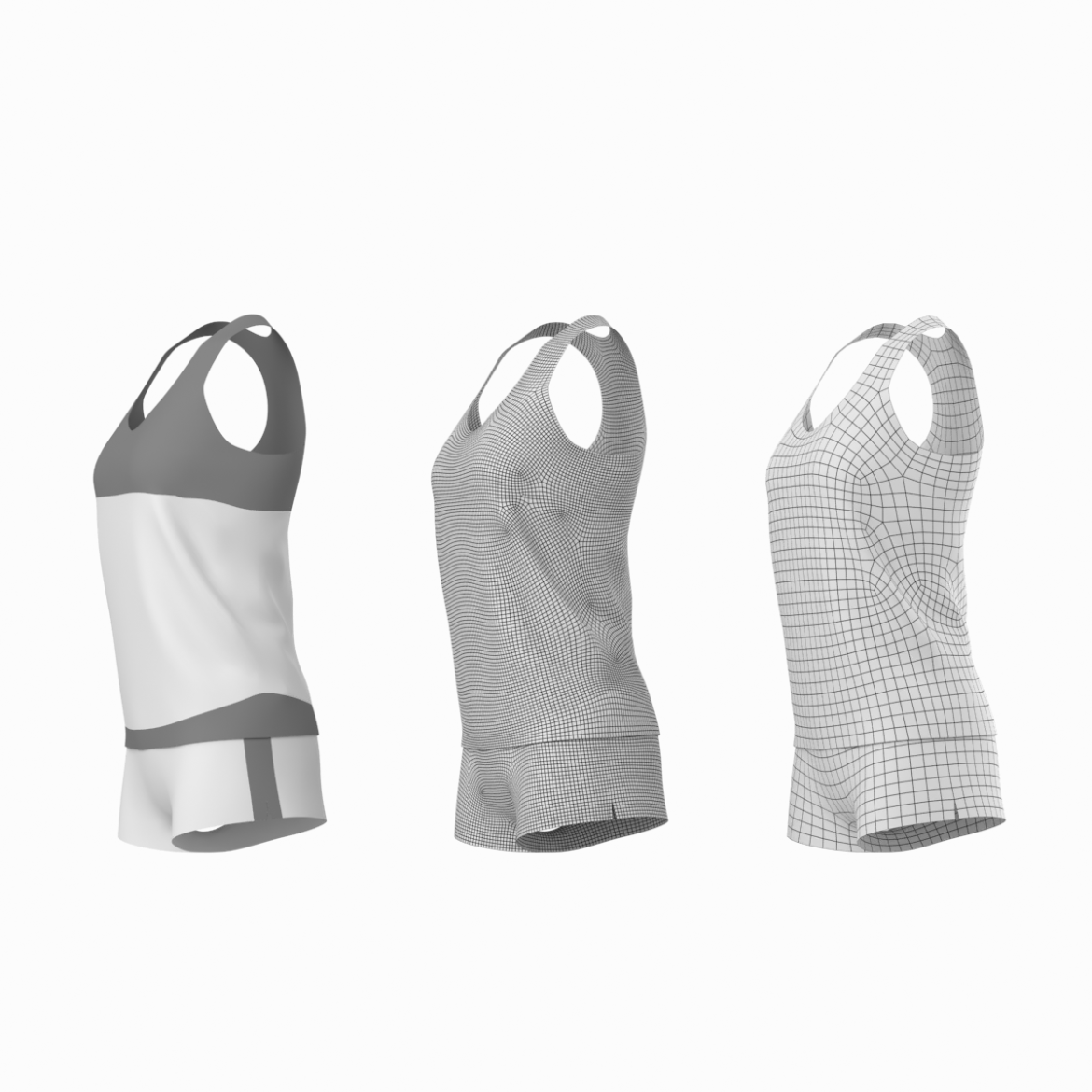 woman sportswear 03 base mesh design kit 3d model 3ds max fbx blend c4d dae ma mb  obj ztl 321877