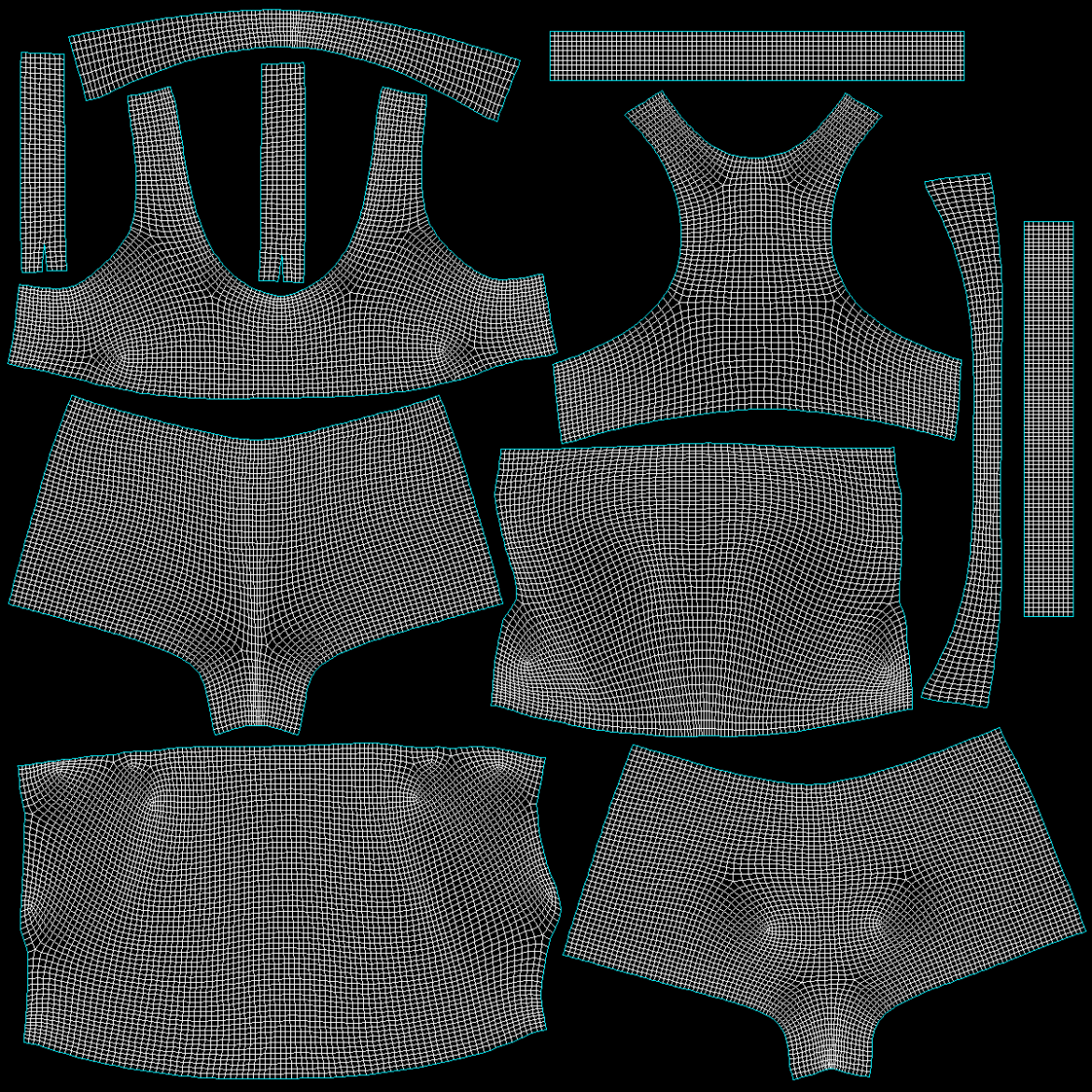 woman sportswear 03 base mesh design kit 3d model 3ds max fbx blend c4d dae ma mb  obj ztl 321881