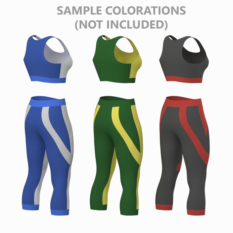жіночий спортивний одяг 05 базових сітчастих дизайнерських комплектів 3d модель 3ds max fbx blend c4d dae ma mb obj ztl 321909