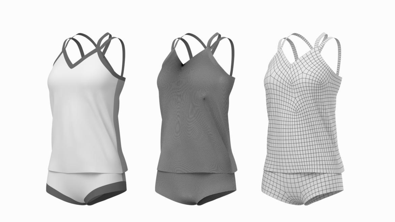 Moteriškos sportinės aprangos 07 pagrindų tinklelio dizaino rinkinys 3d modelis 3ds max fbx mišinys c4d dae ma mb obj ztl 321936
