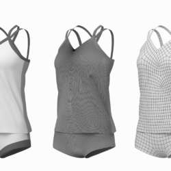 babae sportswear 07 base mesh design kit 3d model 3ds max fbx blend c4d dae ma mb obj ztl 321936