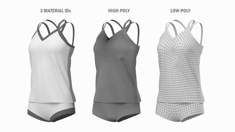 Moteriškos sportinės aprangos 07 pagrindų tinklelio dizaino rinkinys 3d modelis 3ds max fbx mišinys c4d dae ma mb obj ztl 321937