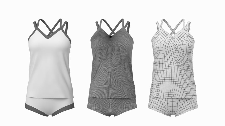 Moteriškos sportinės aprangos 07 pagrindų tinklelio dizaino rinkinys 3d modelis 3ds max fbx mišinys c4d dae ma mb obj ztl 321938