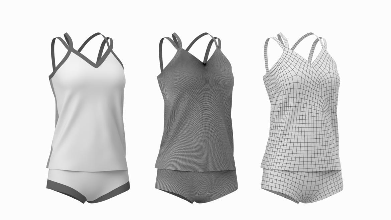 Moteriškos sportinės aprangos 07 pagrindų tinklelio dizaino rinkinys 3d modelis 3ds max fbx mišinys c4d dae ma mb obj ztl 321939