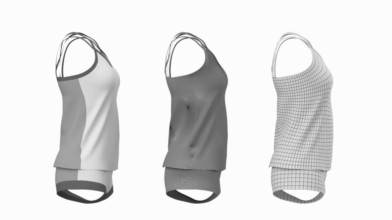 Moteriškos sportinės aprangos 07 pagrindų tinklelio dizaino rinkinys 3d modelis 3ds max fbx mišinys c4d dae ma mb obj ztl 321941