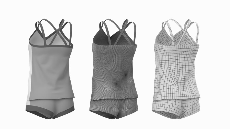 Moteriškos sportinės aprangos 07 pagrindų tinklelio dizaino rinkinys 3d modelis 3ds max fbx mišinys c4d dae ma mb obj ztl 321945