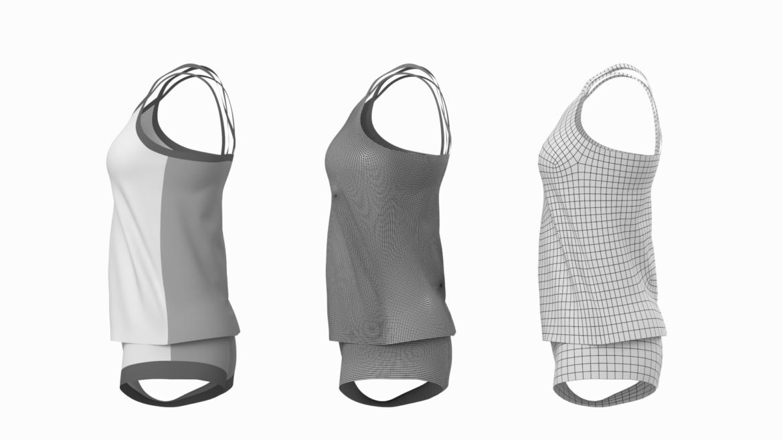 Moteriškos sportinės aprangos 07 pagrindų tinklelio dizaino rinkinys 3d modelis 3ds max fbx mišinys c4d dae ma mb obj ztl 321947