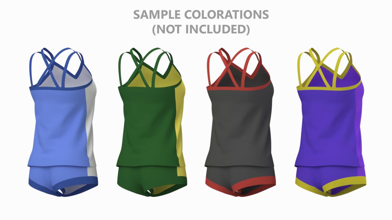 Moteriškos sportinės aprangos 07 pagrindų tinklelio dizaino rinkinys 3d modelis 3ds max fbx mišinys c4d dae ma mb obj ztl 321950