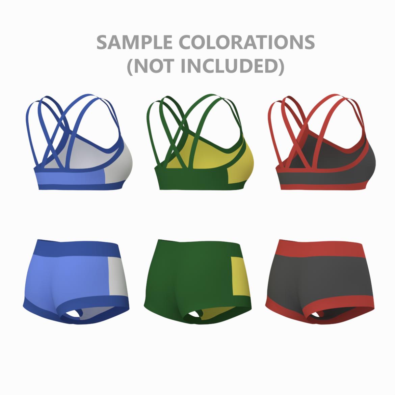 Moteriškos sportinės aprangos 08 pagrindų tinklelio dizaino rinkinys 3d modelis 3ds max fbx mišinys c4d dae ma mb obj ztl 322037