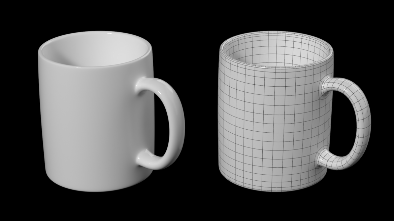coffee and tea ceramic mug base mesh 3d model 3ds max fbx blend c4d dae ma mb  obj ztl 322063