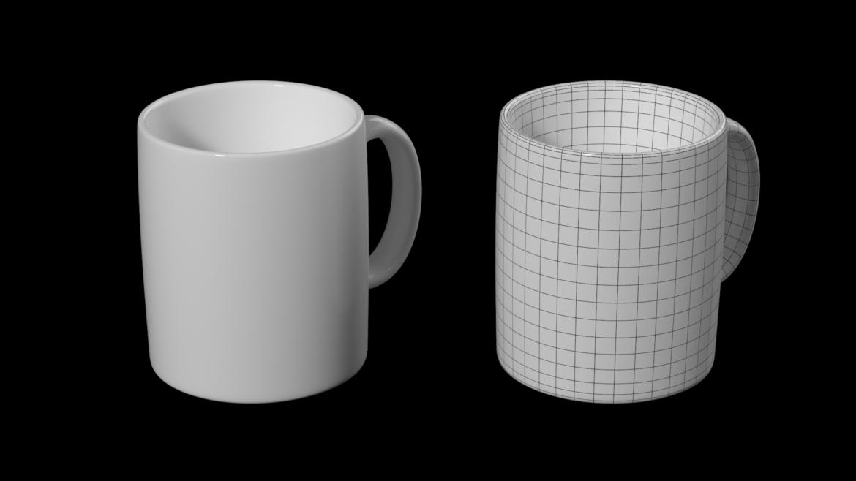 kavos ir arbatos keramikos puodelio pagrindo tinklelis 3D modelis 3ds max fbx mišinys c4d dae ma mb obj ztl 322065