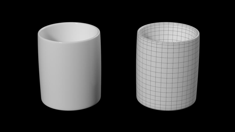kavos ir arbatos keramikos puodelio pagrindo tinklelis 3D modelis 3ds max fbx mišinys c4d dae ma mb obj ztl 322066
