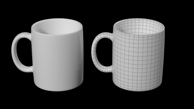 coffee and tea ceramic mug base mesh 3d model 3ds max fbx blend c4d dae ma mb  obj ztl 322068