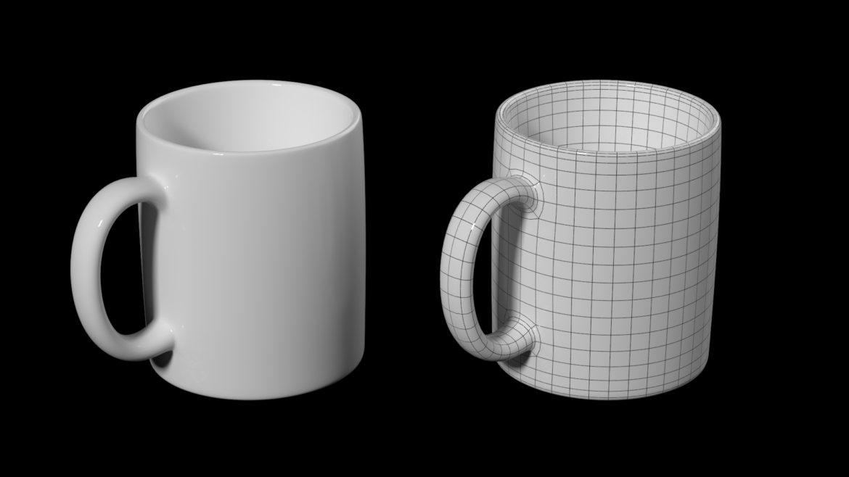 kavos ir arbatos keramikos puodelio pagrindo tinklelis 3D modelis 3ds max fbx mišinys c4d dae ma mb obj ztl 322069
