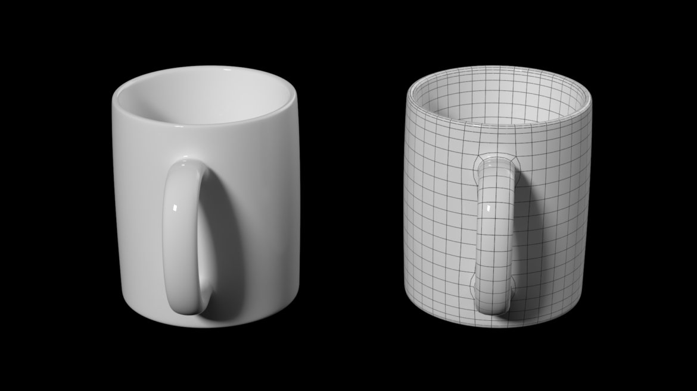 kavos ir arbatos keramikos puodelio pagrindo tinklelis 3D modelis 3ds max fbx mišinys c4d dae ma mb obj ztl 322070