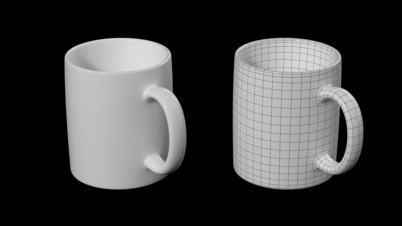 kavos ir arbatos keramikos puodelio pagrindo tinklelis 3D modelis 3ds max fbx mišinys c4d dae ma mb obj ztl 322071