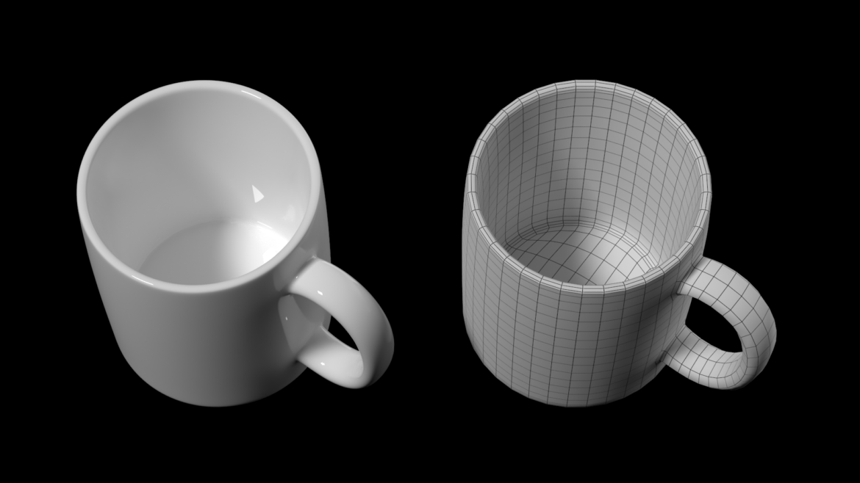 kavos ir arbatos keramikos puodelio pagrindo tinklelis 3D modelis 3ds max fbx mišinys c4d dae ma mb obj ztl 322072