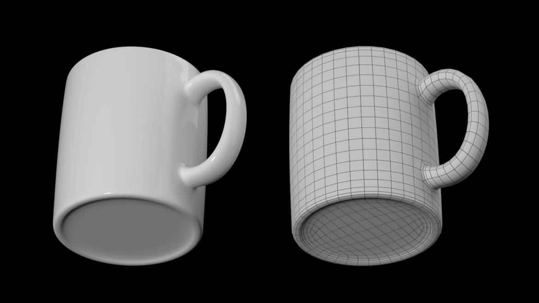 кава та чай керамічна кружка основа сітка 3d модель 3ds max fbx blend c4d dae ma mb obj ztl 322073