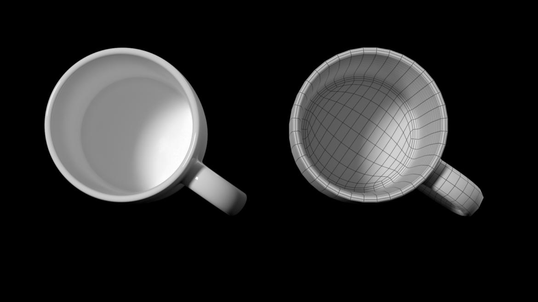 kavos ir arbatos keramikos puodelio pagrindo tinklelis 3D modelis 3ds max fbx mišinys c4d dae ma mb obj ztl 322074