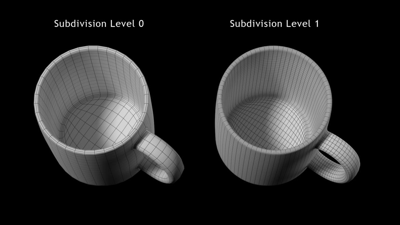 coffee and tea ceramic mug base mesh 3d model 3ds max fbx blend c4d dae ma mb  obj ztl 322079