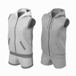 woman sportswear 09 high poly base mesh 3d model max fbx blend c4d dae ma mb  obj ztl 322157