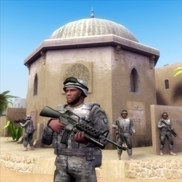 3D model of Arab battlefield used for military simulation and trainings and for 3D games